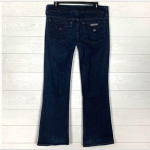 HUDSON flap pocket dark wash jeans